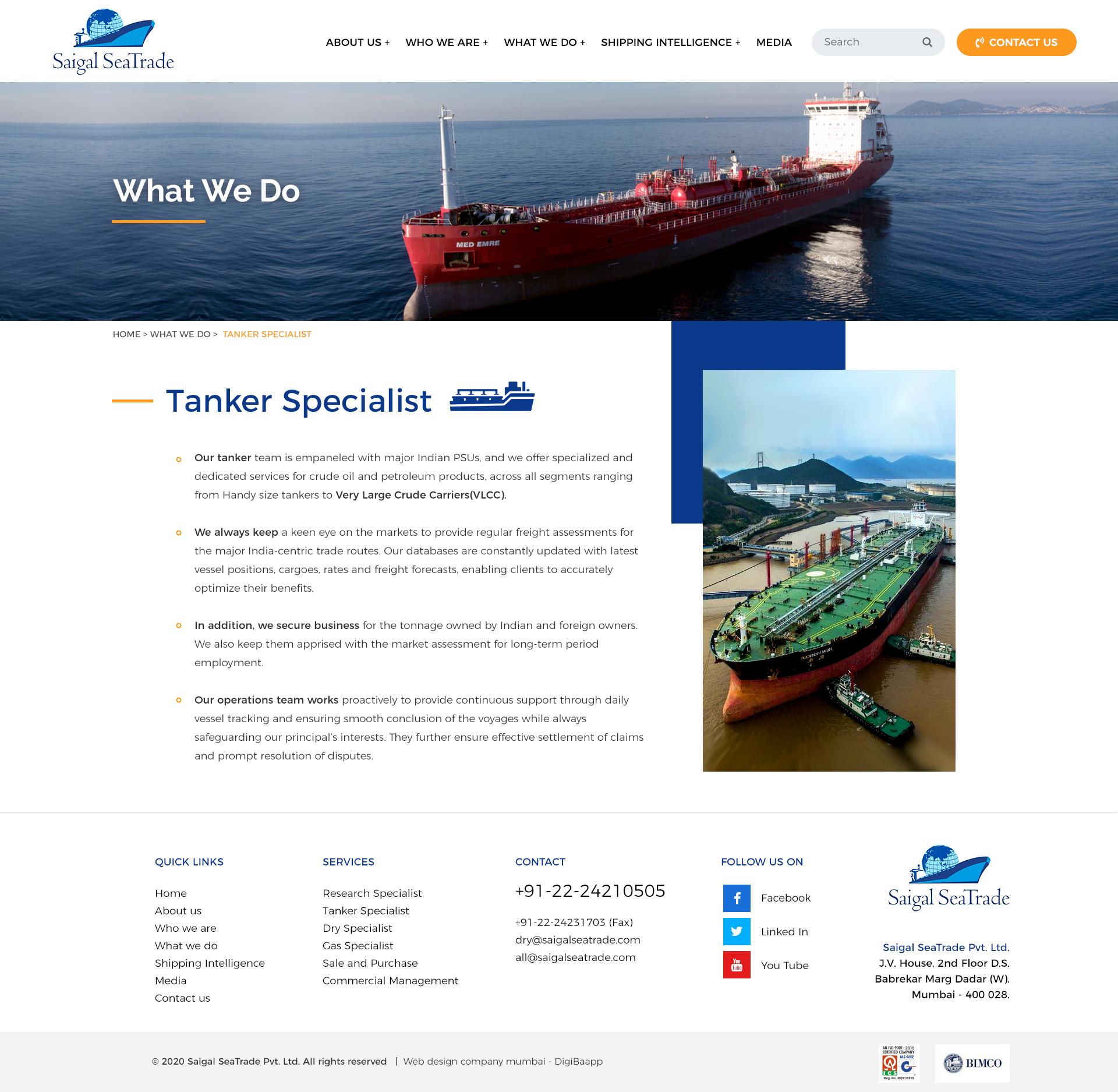 Saigal Sea Trade - Dry Cargo Specialists